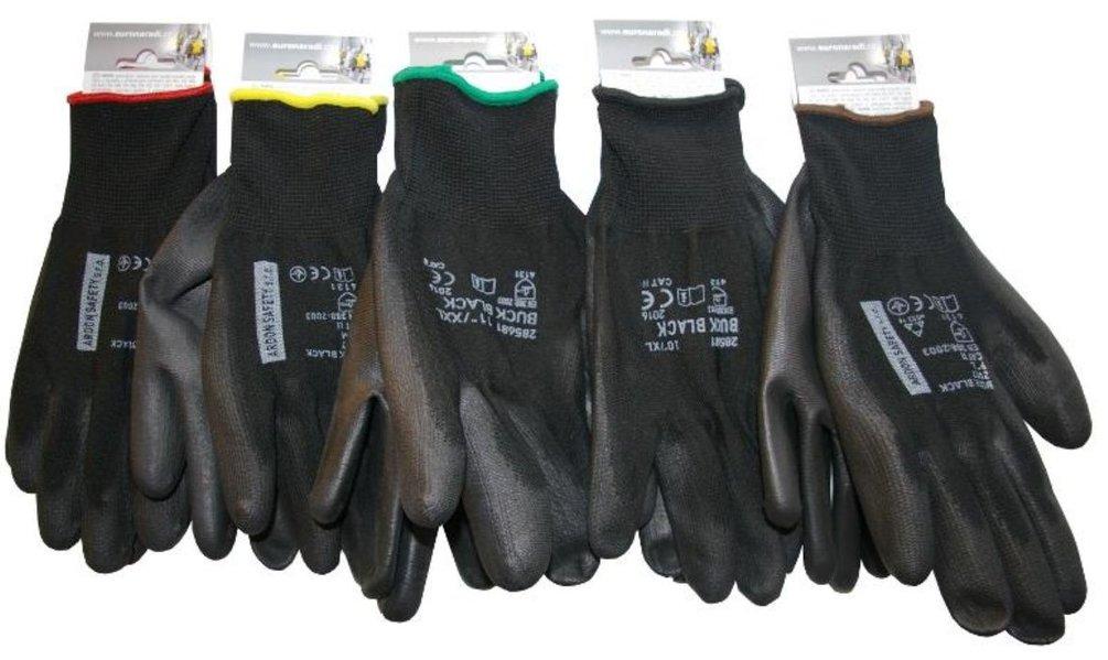 Rukavice nylonové černé velikost 11