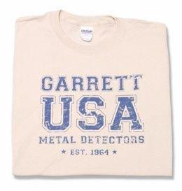 """Garrett Metal Detectors """"USA"""" T-shirt - M"""