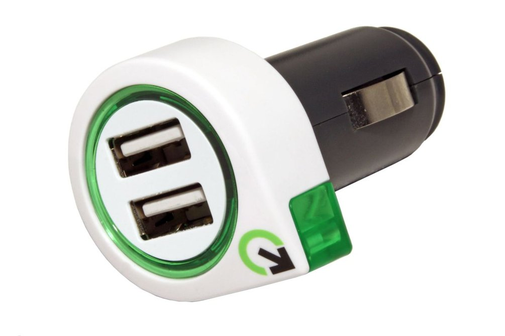 q2power Napájecí adaptér do auta (12-24V), 2x USB, 2,1A