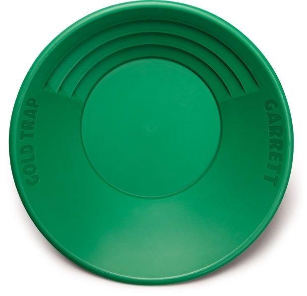 """Nová!! zelená plastová rýžovací pánev Garrett 14"""" """"Gold Trap"""""""