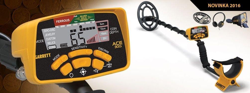Detektor kovů Garrett ACE 300i