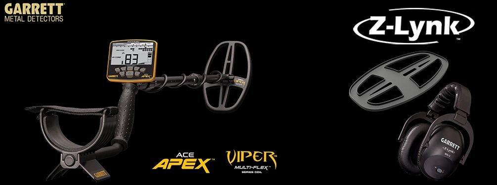 Detektor kovů Garrett ACE APEX + Z-LYNK sluchátka