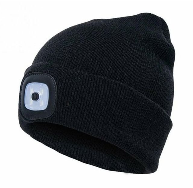 Čepice s čelovkou černá 45lm