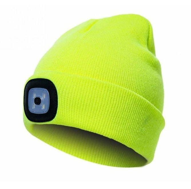 Čepice s čelovkou žlutá 45lm blistr