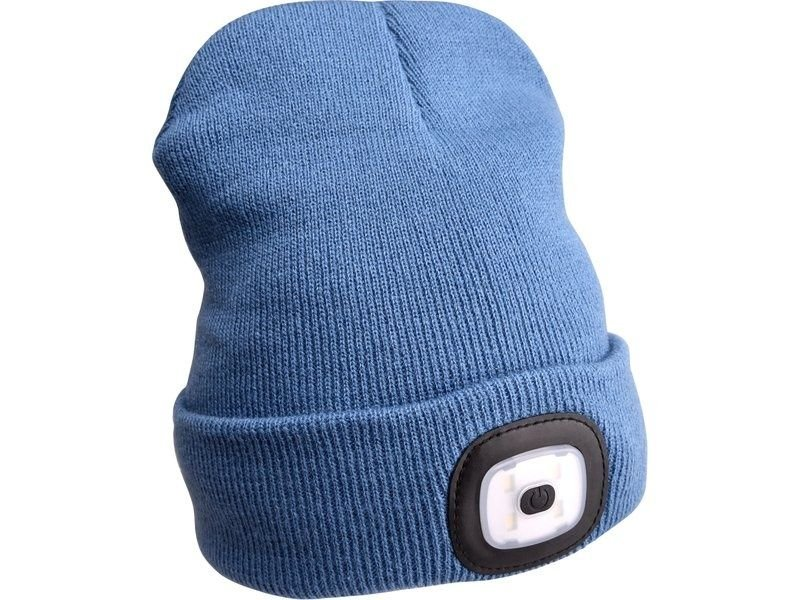 Čepice s čelovkou 45lm modrá