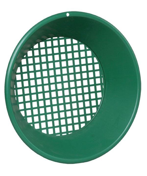 """Zelená plastová rýžovací pánev Garrett 14"""" Síto/Třídič"""