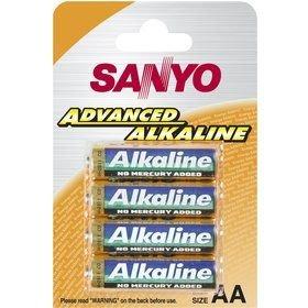 Baterie 4ks AA blistr Alkaline 1.5V (Sanyo a podobné)